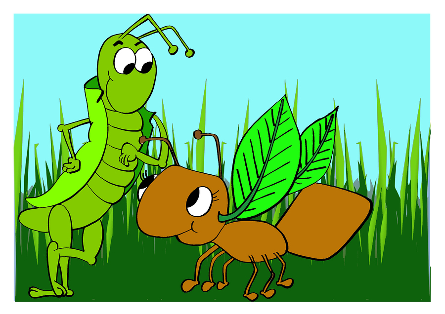 the ant and the grasshoper The moral of the story the ant and the grasshopper is that it is important to be prepared and work hard in case hard times occur the story was written by.