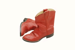 cowboy boots red